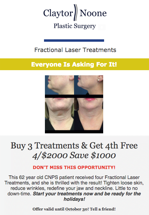 Fractional Laser Treatment Special
