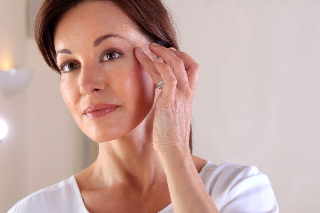 woman considers great facelift results from claytor plastic surgery in bryn mawr Philadelphia