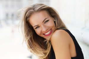 Happy Smiling Woman After Rhinoplasty Nose Job Surgery at Claytor Noone in Philadelphia PA